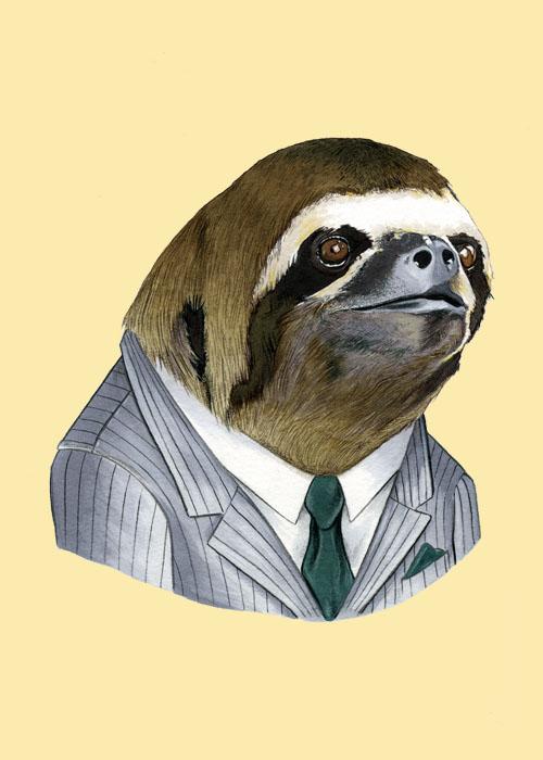 Sloth5x7